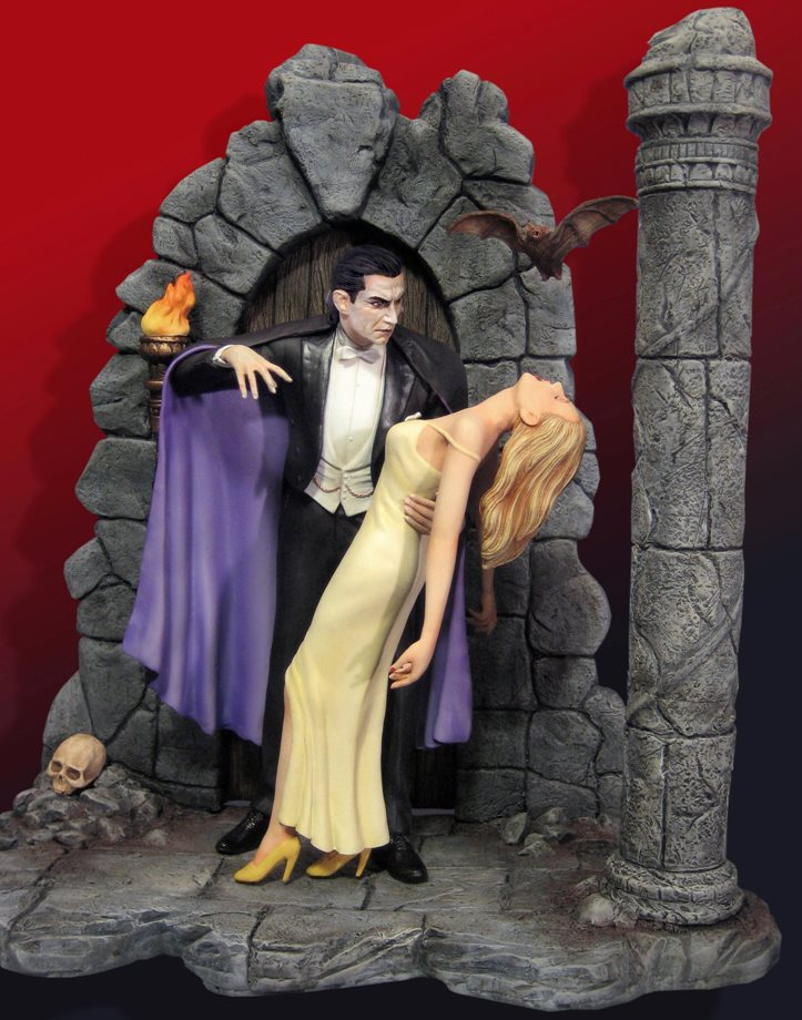 Dracula Bela Lugosi Broadway 1927 With Victim Deluxe Model Kit