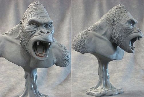 King Kong 9 Inch Bust Model Kit