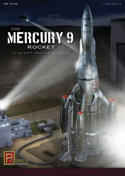 Mercury 9 Rocket 1/350 Scale Model Kit