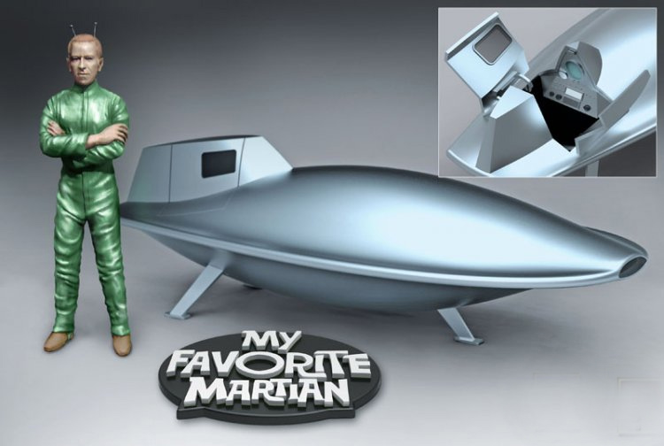 My Favorite Martian Uncle Martin & Spaceship Model kit