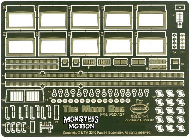 2001: A Space Odyssey AURORA Moon Bus Photoetch Set