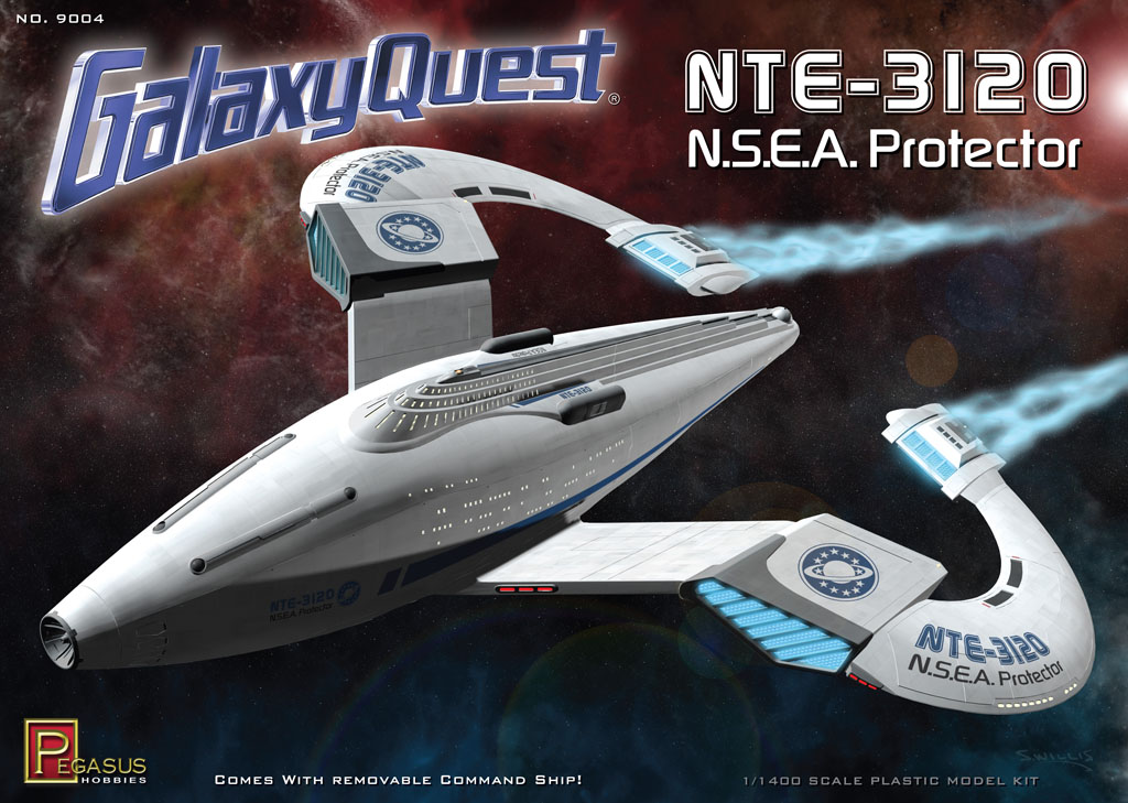 Galaxy Quest NSEA Protector Ship Model Kit 1/1400