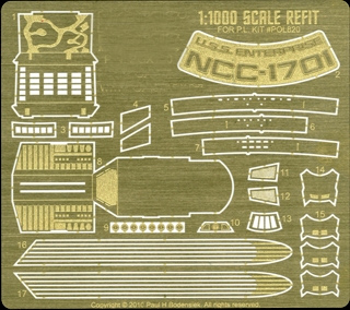 Star Trek Enterprise NCC-1701 Refit Photoetch Set 1/1000