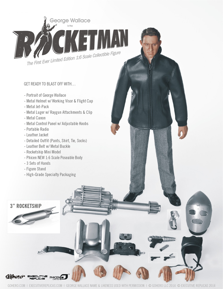"Rocketman George Wallace 12"" Figure Limited Edition - Click Image to Close"