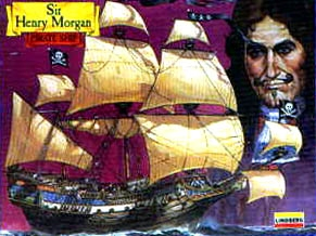 Jolly Roger Series Sir Henry Morgan Pirate Ship 1/160 Scale Model Kit by Lindberg