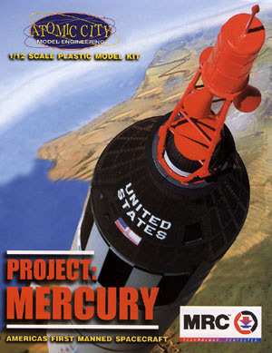 Project Mercury Space Capsule 1/12 Scale Model Kit Atomic City