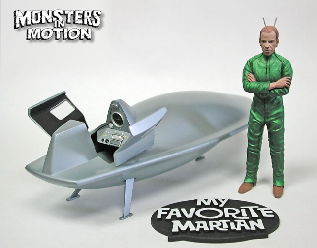 My Favorite Martian PREBUILT Uncle Martin & Spaceship