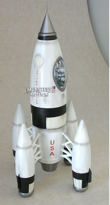 Retro Apollo 27 Plastic Rocket Model Assembly Kit