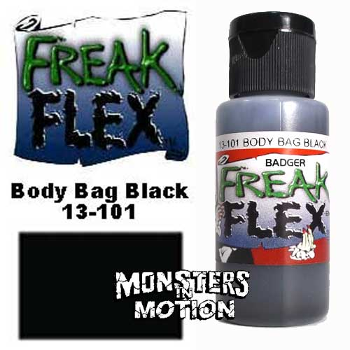 Freak Flex Body Bag Black Paint 1 Ounce Flip Top Bottle