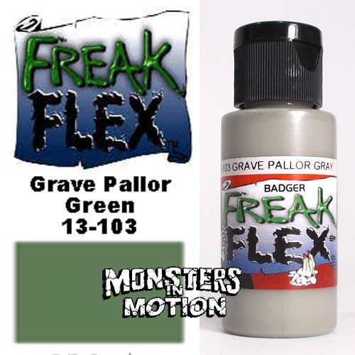 Freak Flex Grave Pallor Gray Paint 1 Ounce Flip Top Bottle