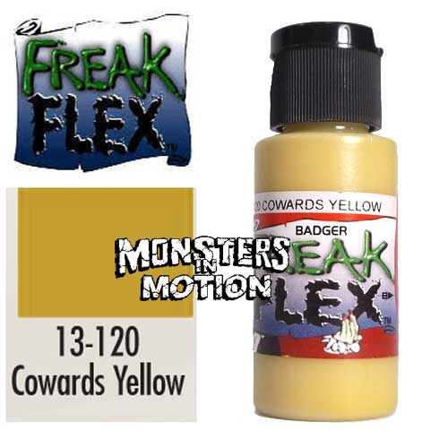 Freak Flex Cowards Yellow Paint 1 Ounce Flip Top Bottle