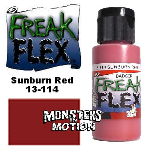 Freak Flex Sunburn Red Paint 1 Ounce Flip Top Bottle
