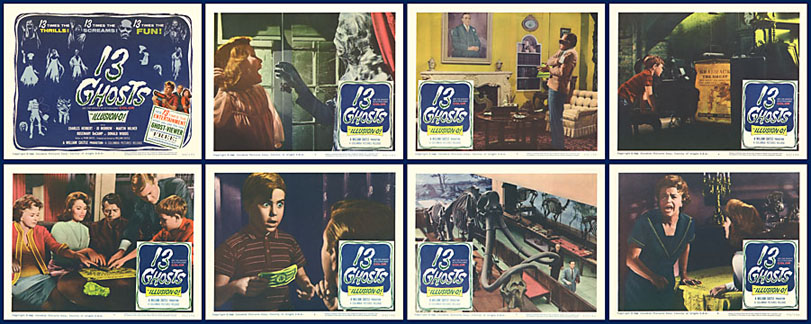 13 Ghosts 1960 11x14 Lobby Card Set
