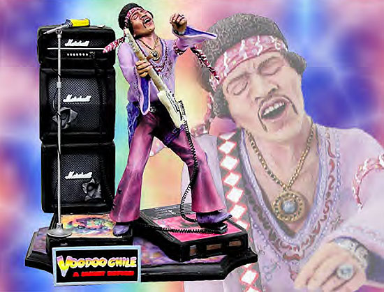 Jimi Hendrix Tribute 1/6 Scale Resin Model Kit