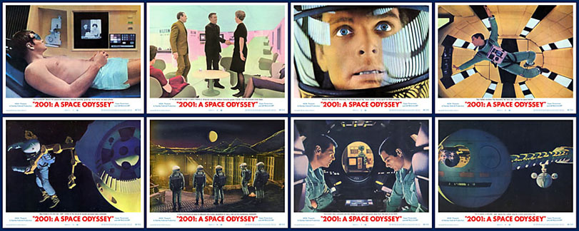 2001: A Space Odyssey 1968 11x14 Lobby Card Set