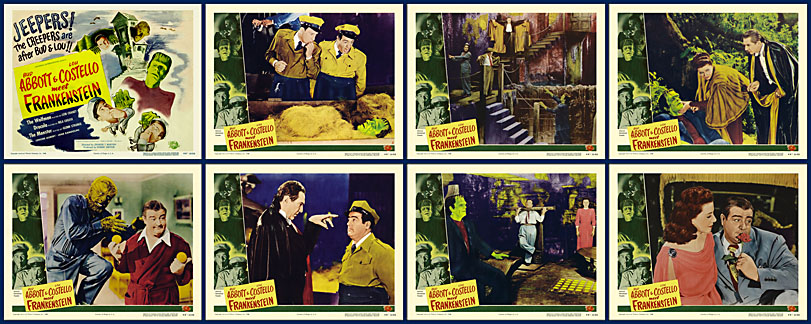 Abbott and Costello Meet Frankenstein - 1948 - Lobby Card Set