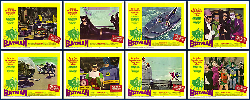 Batman 1966 11x14 Lobby Card Set