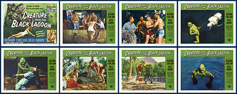 Creature from the Black Lagoon 1954 11x14 Lobby Card Set