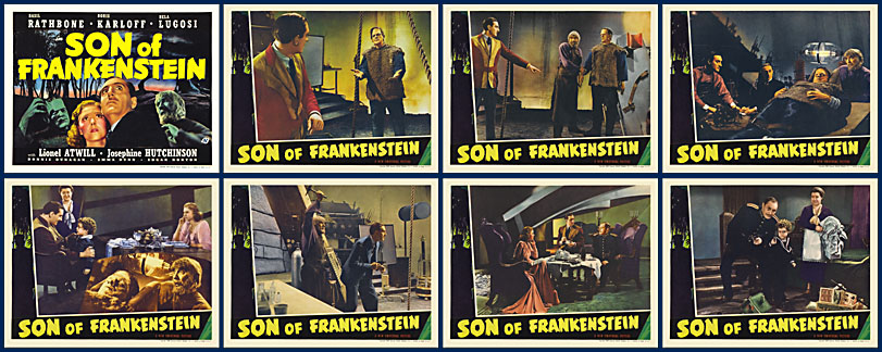 Son of Frankenstein 1938 Lobby Card Set