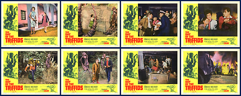 Day of the Triffids 1962 11x14 Lobby Card Set