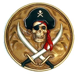 Pirate Plaque Unpainted Resin Model Kit