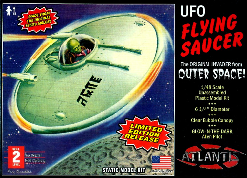 UFO Flying Saucer with Glow Pilot 1954 Model Kit 1/48 Atlantis