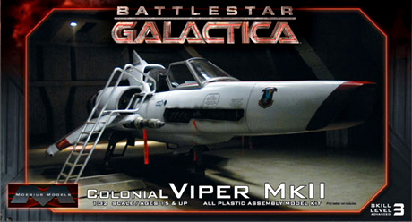 Battlestar Galactica 2003 Colonial Viper MK II 1/32 Scale Model Photoetch & Decal Set for Moebius