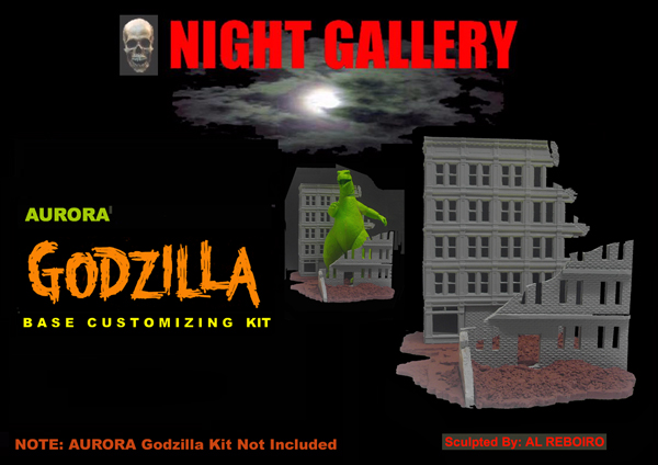 Godzilla Aurora Base Customizing Model Kit